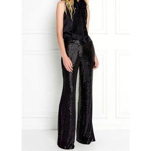 NWT White House Black Market Black Sequin Pants